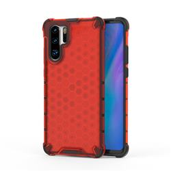 Honeycomb TPU + PC Hybrid Armor Shockproof Case Cover for Huawei P30 Pro - Red