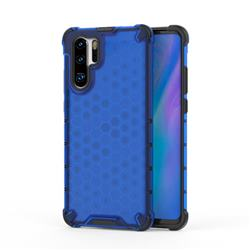 Honeycomb TPU + PC Hybrid Armor Shockproof Case Cover for Huawei P30 Pro - Blue