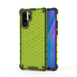 Honeycomb TPU + PC Hybrid Armor Shockproof Case Cover for Huawei P30 Pro - Green