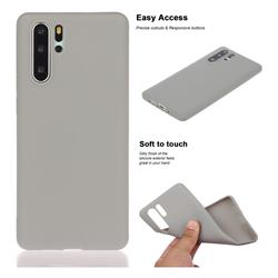 Soft Matte Silicone Phone Cover for Huawei P30 Pro - Gray