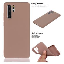 Soft Matte Silicone Phone Cover for Huawei P30 Pro - Khaki