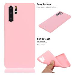 Soft Matte Silicone Phone Cover for Huawei P30 Pro - Rose Red