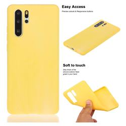 Soft Matte Silicone Phone Cover for Huawei P30 Pro - Yellow