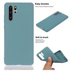 Soft Matte Silicone Phone Cover for Huawei P30 Pro - Lake Blue