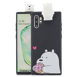 Big White Bear Soft 3D Climbing Doll Stand Soft Case for Huawei P30 Pro