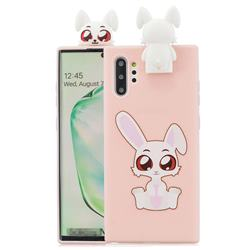 Cute Rabbit Soft 3D Climbing Doll Stand Soft Case for Huawei P30 Pro