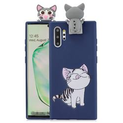 Grinning Cat Soft 3D Climbing Doll Stand Soft Case for Huawei P30 Pro