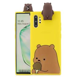 Brown Bear Soft 3D Climbing Doll Stand Soft Case for Huawei P30 Pro