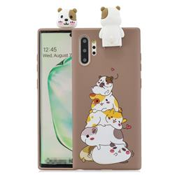 Hamster Family Soft 3D Climbing Doll Stand Soft Case for Huawei P30 Pro