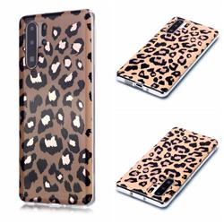 Leopard Galvanized Rose Gold Marble Phone Back Cover for Huawei P30 Pro
