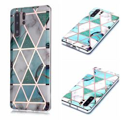 Green White Galvanized Rose Gold Marble Phone Back Cover for Huawei P30 Pro