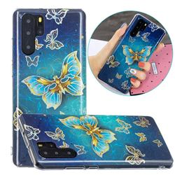 Golden Butterfly Painted Galvanized Electroplating Soft Phone Case Cover for Huawei P30 Pro