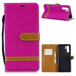 Jeans Cowboy Denim Leather Wallet Case for Huawei P30 Pro - Rose