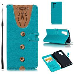 Ladies Bow Clothes Pattern Leather Wallet Phone Case for Huawei P30 Pro - Green