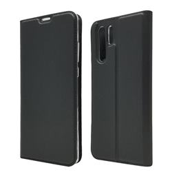 Ultra Slim Card Magnetic Automatic Suction Leather Wallet Case for Huawei P30 Pro - Star Grey