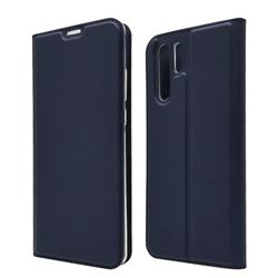 Ultra Slim Card Magnetic Automatic Suction Leather Wallet Case for Huawei P30 Pro - Royal Blue