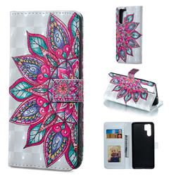 Mandara Flower 3D Painted Leather Phone Wallet Case for Huawei P30 Pro