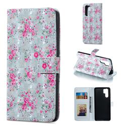 Roses Flower 3D Painted Leather Phone Wallet Case for Huawei P30 Pro
