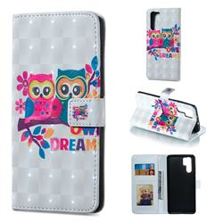 Couple Owl 3D Painted Leather Phone Wallet Case for Huawei P30 Pro