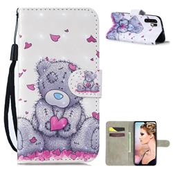 Love Panda 3D Painted Leather Wallet Phone Case for Huawei P30 Pro
