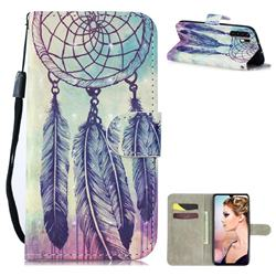Feather Wind Chimes 3D Painted Leather Wallet Phone Case for Huawei P30 Pro