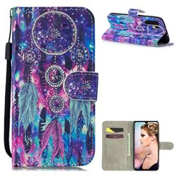 Star Wind Chimes 3D Painted Leather Wallet Phone Case for Huawei P30 Pro