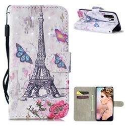 Paris Tower 3D Painted Leather Wallet Phone Case for Huawei P30 Pro