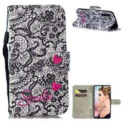 Lace Flower 3D Painted Leather Wallet Phone Case for Huawei P30 Pro