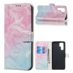 Pink Green Marble PU Leather Wallet Case for Huawei P30 Pro