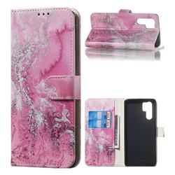 Pink Seawater PU Leather Wallet Case for Huawei P30 Pro