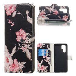 Azalea Flower PU Leather Wallet Case for Huawei P30 Pro
