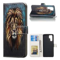 Ice Lion 3D Relief Oil PU Leather Wallet Case for Huawei P30 Pro