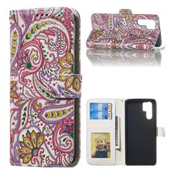 Pepper Flowers 3D Relief Oil PU Leather Wallet Case for Huawei P30 Pro