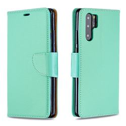 Classic Luxury Litchi Leather Phone Wallet Case for Huawei P30 Pro - Green
