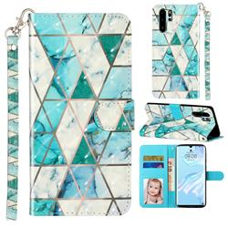 Stitching Marble 3D Leather Phone Holster Wallet Case for Huawei P30 Pro