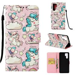 Angel Pony 3D Painted Leather Wallet Case for Huawei P30 Pro