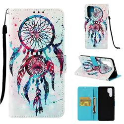 ColorDrops Wind Chimes 3D Painted Leather Wallet Case for Huawei P30 Pro