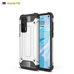King Kong Armor Premium Shockproof Dual Layer Rugged Hard Cover for Huawei P40 - White