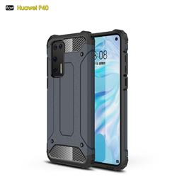 King Kong Armor Premium Shockproof Dual Layer Rugged Hard Cover for Huawei P40 - Navy