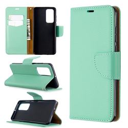 Classic Luxury Litchi Leather Phone Wallet Case for Huawei P40 - Green