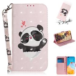 Heart Cat 3D Painted Leather Wallet Phone Case for Huawei P40