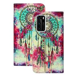 Butterfly Chimes PU Leather Wallet Case for Huawei P40