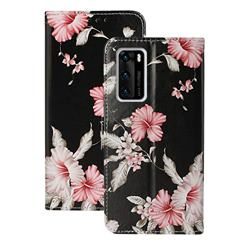 Azalea Flower PU Leather Wallet Case for Huawei P40