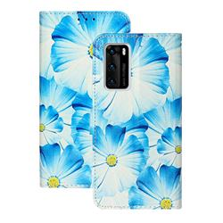 Orchid Flower PU Leather Wallet Case for Huawei P40