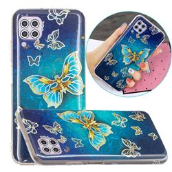 Golden Butterfly Painted Galvanized Electroplating Soft Phone Case Cover for Huawei P40 Lite