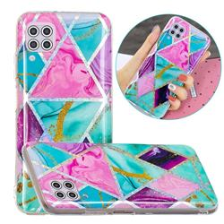 Triangular Marble Painted Galvanized Electroplating Soft Phone Case Cover for Huawei P40 Lite