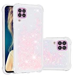 Dynamic Liquid Glitter Sand Quicksand TPU Case for Huawei P40 Lite - Silver Powder Star
