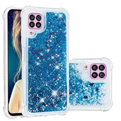 Dynamic Liquid Glitter Sand Quicksand TPU Case for Huawei P40 Lite - Blue Love Heart