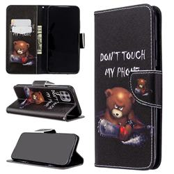 Chainsaw Bear Leather Wallet Case for Huawei P40 Lite