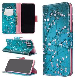 Blue Plum Leather Wallet Case for Huawei P40 Lite